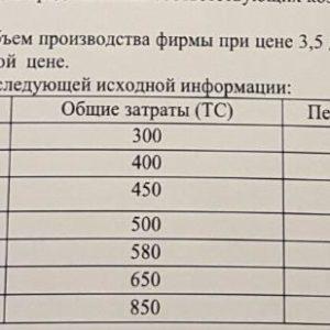 Задача 7 Определите оптимальный объем производства фирмы при цене 3,5 ден.ед. Укажите, будет ли предприятие иметь прибыль или убытки при данной цене. F А F C