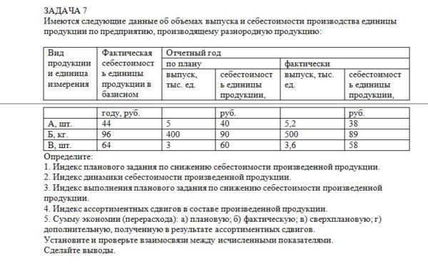 Имеются следующие данные об объемах выпуска и себестоимости производства единицы продукции по предприятию, производящему разнородную продукцию: Вид продукции и