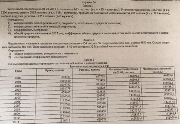 26 Задача I. Численность исцеления на 01.01.2012 г. составляла 685 тыс. чел. (в т.ч. 45% - мужчины). В течение года родилось 3185 чел. (в т.ч. 2200 девочек, уме