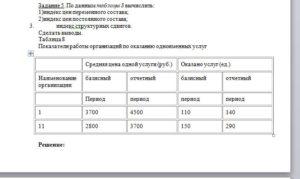 По данным таблицы 8 вычислить: 1)индекс цен переменного состава; 2)индекс цен постоянного состава; 3.индекс структурных сдвигов. Сделать выводы. Таблица 8 Пока
