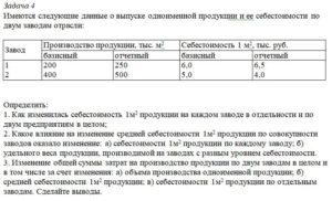 Имеются следующие данные о выпуске одноименной продукции и ее себестоимости по двум заводам отрасли: ЗаводПроизводство продукции, тыс. м2Себестоимость 1 м2, т