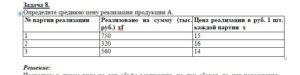 Определите среднюю цену реализации продукции А. № партии реализацииРеализовано на сумму (тыс. руб.) xfЦена реализации в руб. 1 шт. каждой партии  x 175015 2